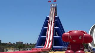 Huge Inflatable Water Slide - Perth January 2016