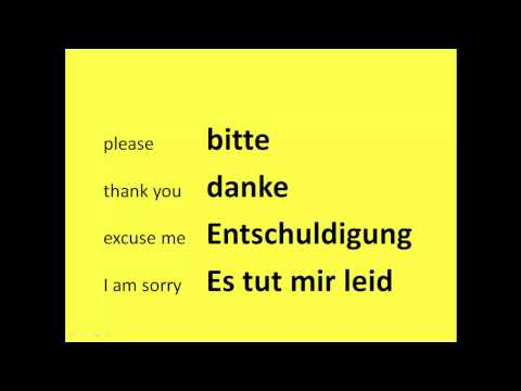 Learn Basic German Phrases in Under 2 Minutes