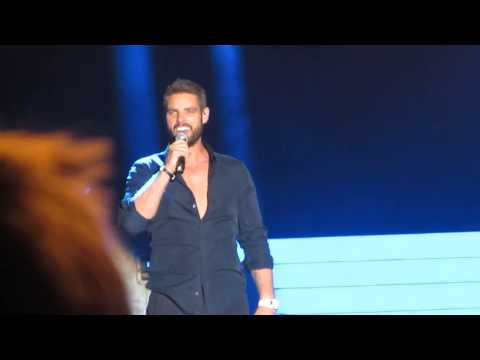 Boyzone 'Love You Anyway' Keith Duffy Talking to audience Epsom Downs Live BZ20 Tour July 2014