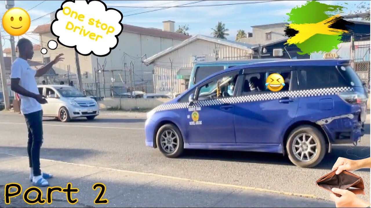 (Pt2)Beg Yuh A Free Drive Prank on Taxi 😱🇯🇲