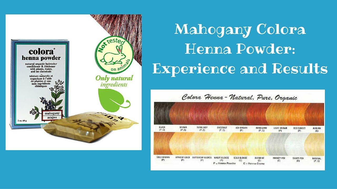 Mahogany Henna Dye Experience And Results Youtube