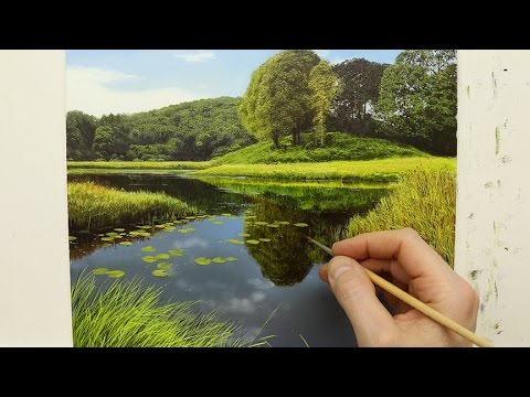 #79 How To Paint A River | Oil Painting Time Lapse