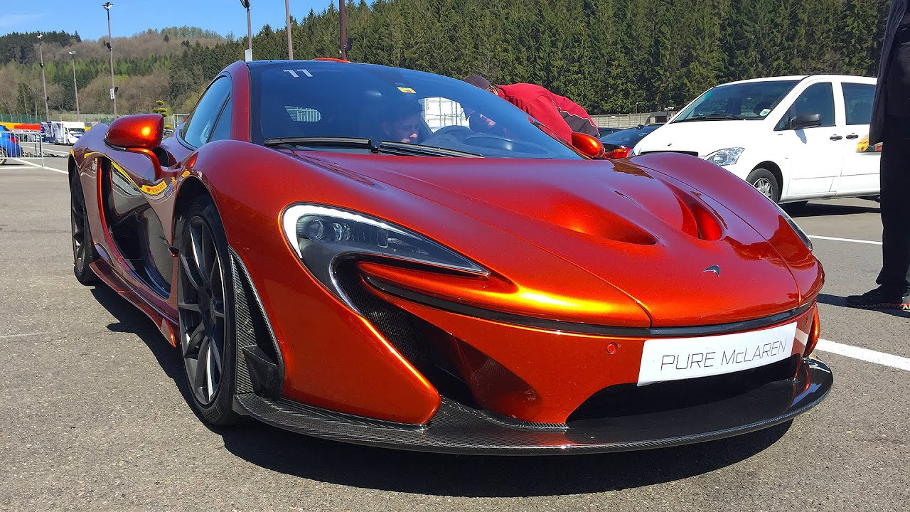 Volcano Orange McLaren P1 Exhaust Sounds