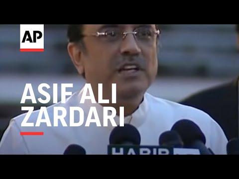Bhutto widower Zardari elected president, reacts to win