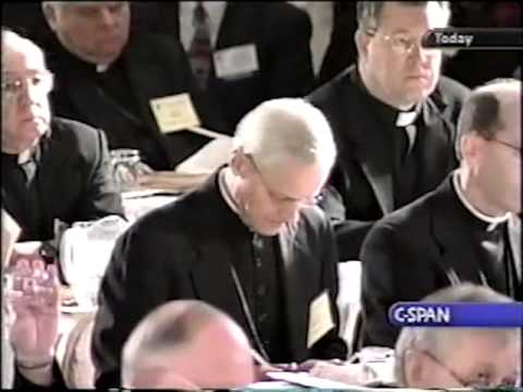 Archbishop Harry Flynn at the 2002 U.S. Conference of Catholic Bishops meeting