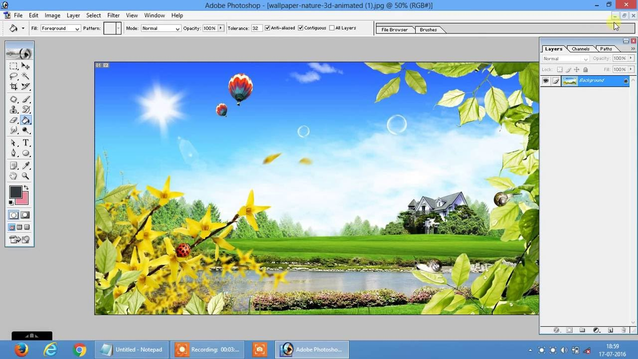 How to Create 3D Image By Photoshop 7.0 Hindi video by graphics guru