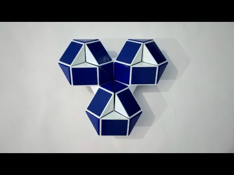 How To Make Flower Pattern On Snake Cube