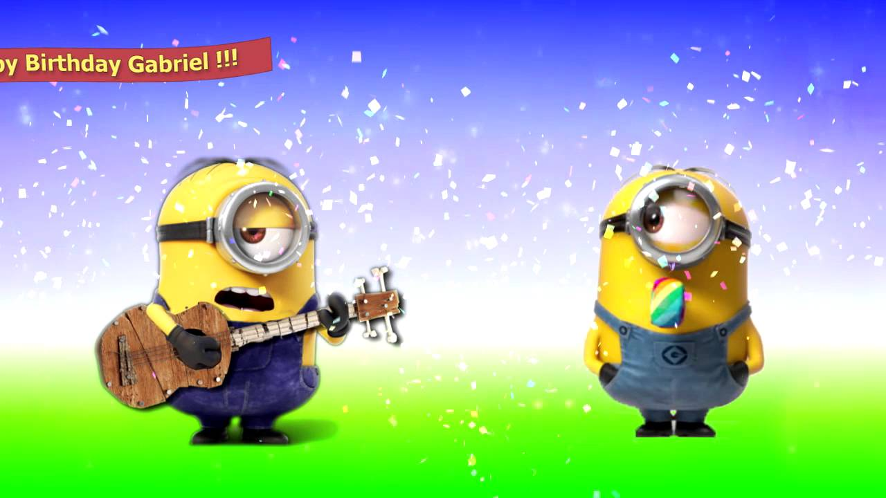 Funny Birthday Memes Minions : Happy birthday gabriel youtube