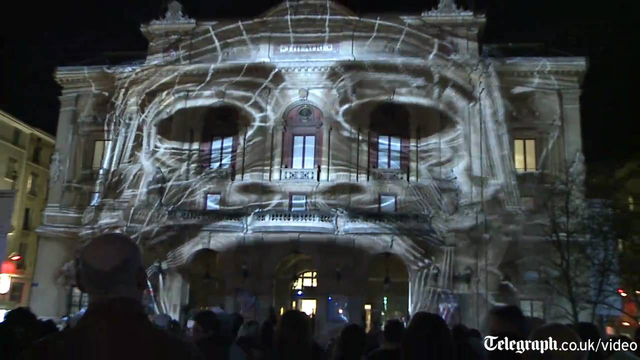 Amazing 3d projection mapped on building youtube for Building onto a house