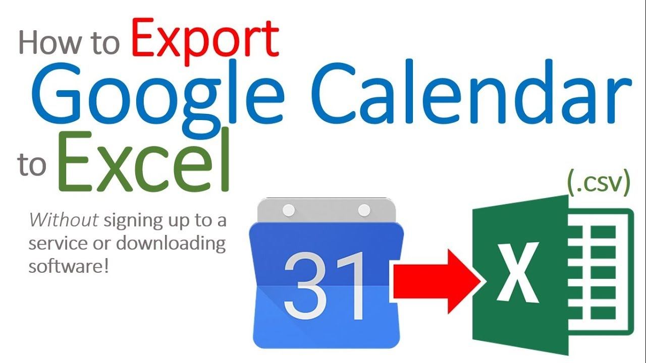How to Export Google Calendar to Excel