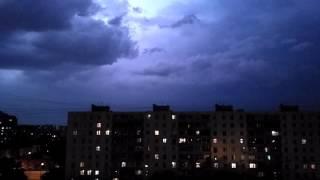 Ураган гроза молнии в Москве 13.07.2016