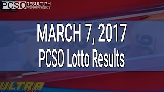 Video PCSO Lotto Results March 7, 2017 (6/58, 6/49, 6/42, 6D, Swertres & EZ2) download MP3, 3GP, MP4, WEBM, AVI, FLV November 2017