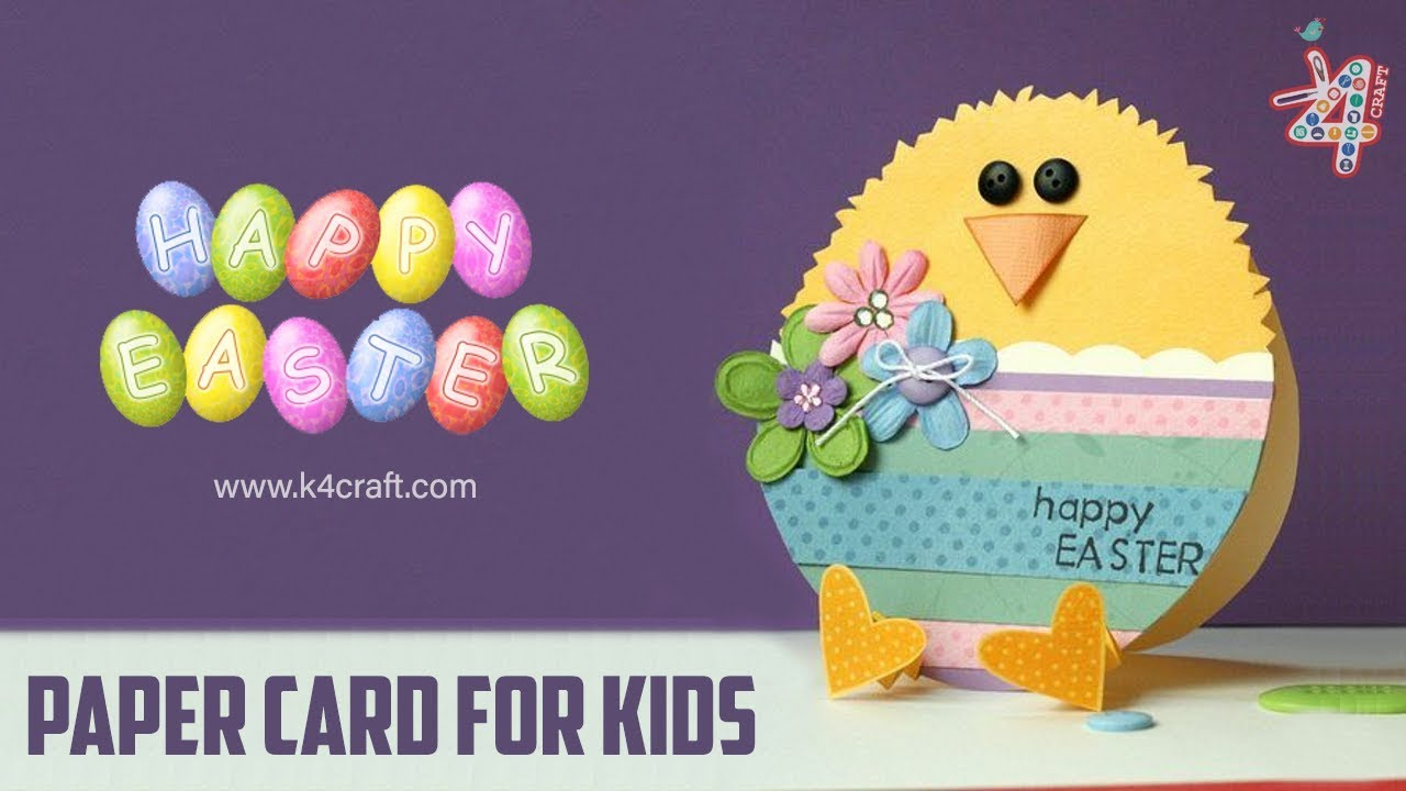 Card Making Ideas Easter Part - 26: How To Make Easter Chick Card - Easy Paper Craft Ideas For Kids