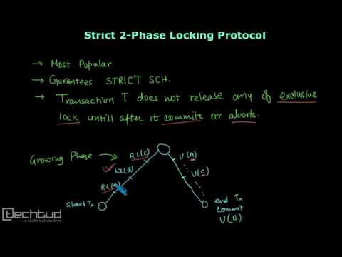 Strict and Rigorous 2-Phase Locking Protocol | Concurrency Control - DBMS