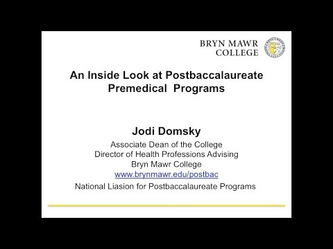 An Inside Look at Post-Baccalaureate Premedical Programs