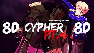 ⚠️ [8D AUDIO] BTS RM, SUGA, JHOPE - CYPHER PT. 4 [USE HEADPHONES 🎧] | BTS | BASS BOOSTED | 8D