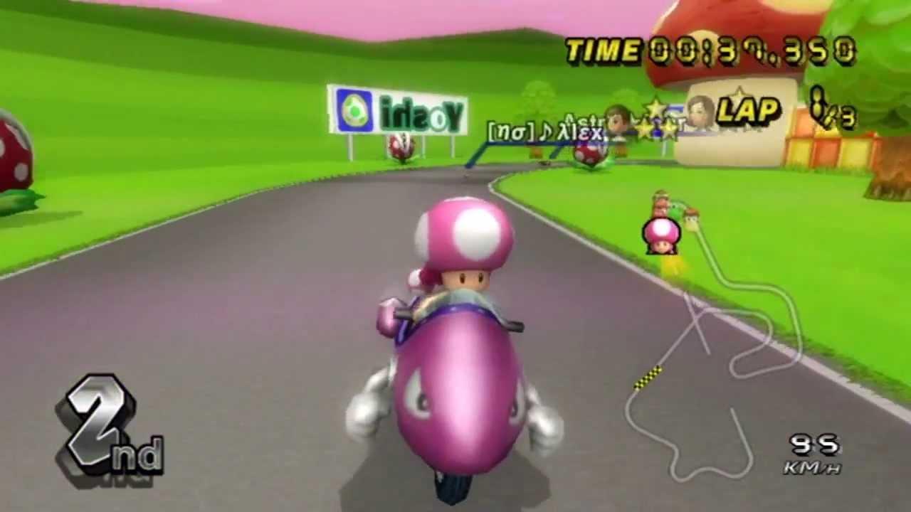 Mario kart wii n64 royal raceway mirror with astrostar - Mario kart wii personnages et vehicules ...