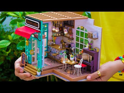 DIY Miniature Doll Coffee Shop