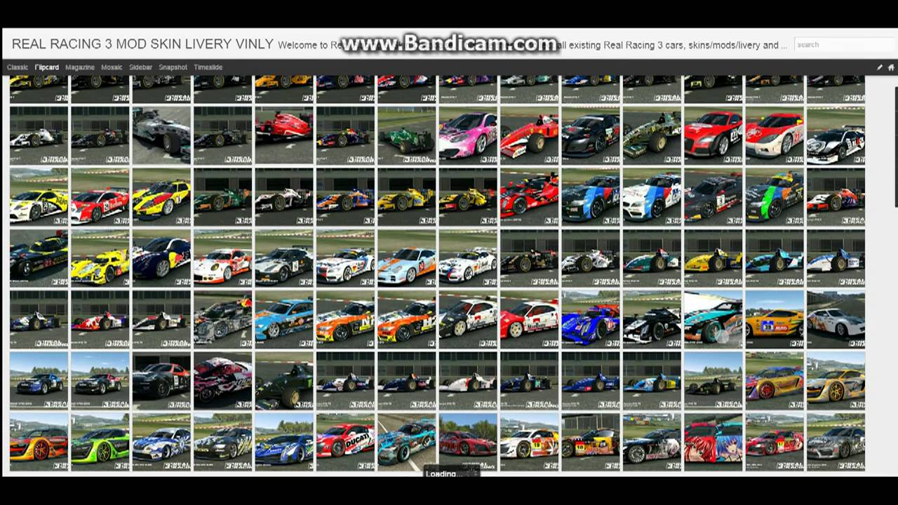 How to find real racing 3 cars skins