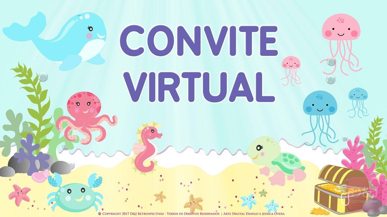 Convite Virtual Fundo Do Mar Youtube