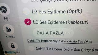 Lg tv ye (kablosuz) ses sistemi nasıl bağlanır?