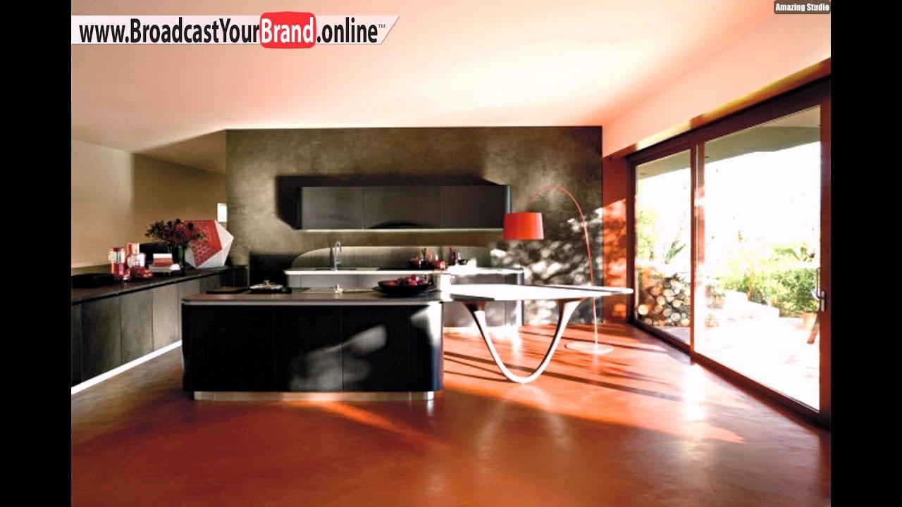 Snaidero Küchen Design Kücheninsel Grifflos Modern - YouTube