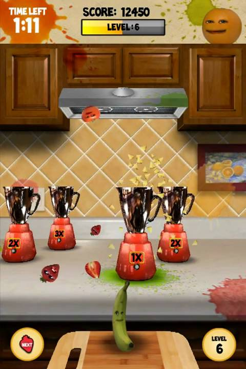 Annoying Orange Kitchen Carnage  For iOS and Android