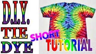 Wavy Fan Fold Tie Dye Shirt [Short Tutorial] #47