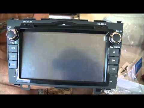Installing dashboard GPS and DVD system on 2007 Honda CR-V