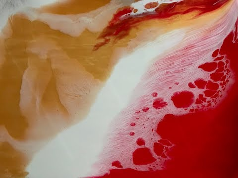 Colored Resin Pour Painting Using Stone Coat Countertops Art Coat Epoxy Resin