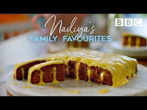 Orange & Coffee Poke Cake   Nadiya's Family Favourites - BBC