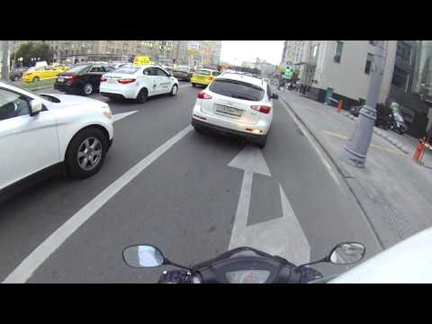 Китайский скутер Nexus X1 50сс Москва, Садовое кольцо, пробки