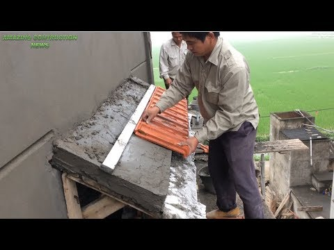 Building And install Terracotta Tiles On Roof Small Slope - Building Slope Roof Concrete , Beautiful