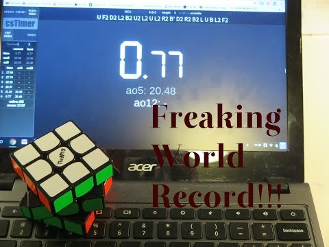 RUBIK'S CUBE SOLVED IN UNDER 1 SECOND!  UN WORLD RECORD!!!!!