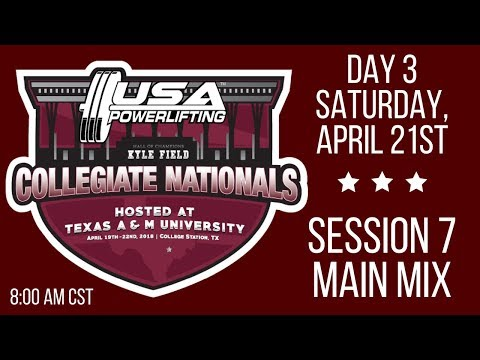 2018 USA Powerlifting Collegiate Nationals - Session 7 - Saturday AM