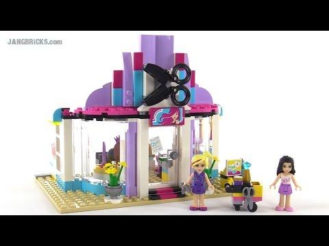 Lego Friends Heartlake Hair Salon Review Set 41093 Youtube