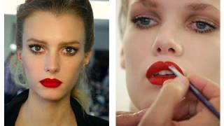 soft beachy  red lip tutorial