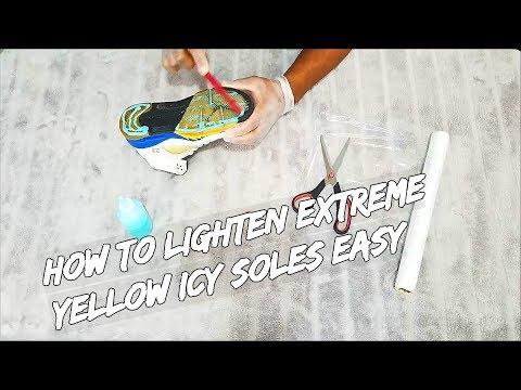 How To Lighten Extreme Yellow Icy Soles Easy