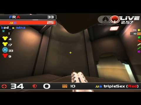 ClanBase Nations Cup 2012 SEMI FINAL - France v Ukraine - Quake Live TDM - MAP 1