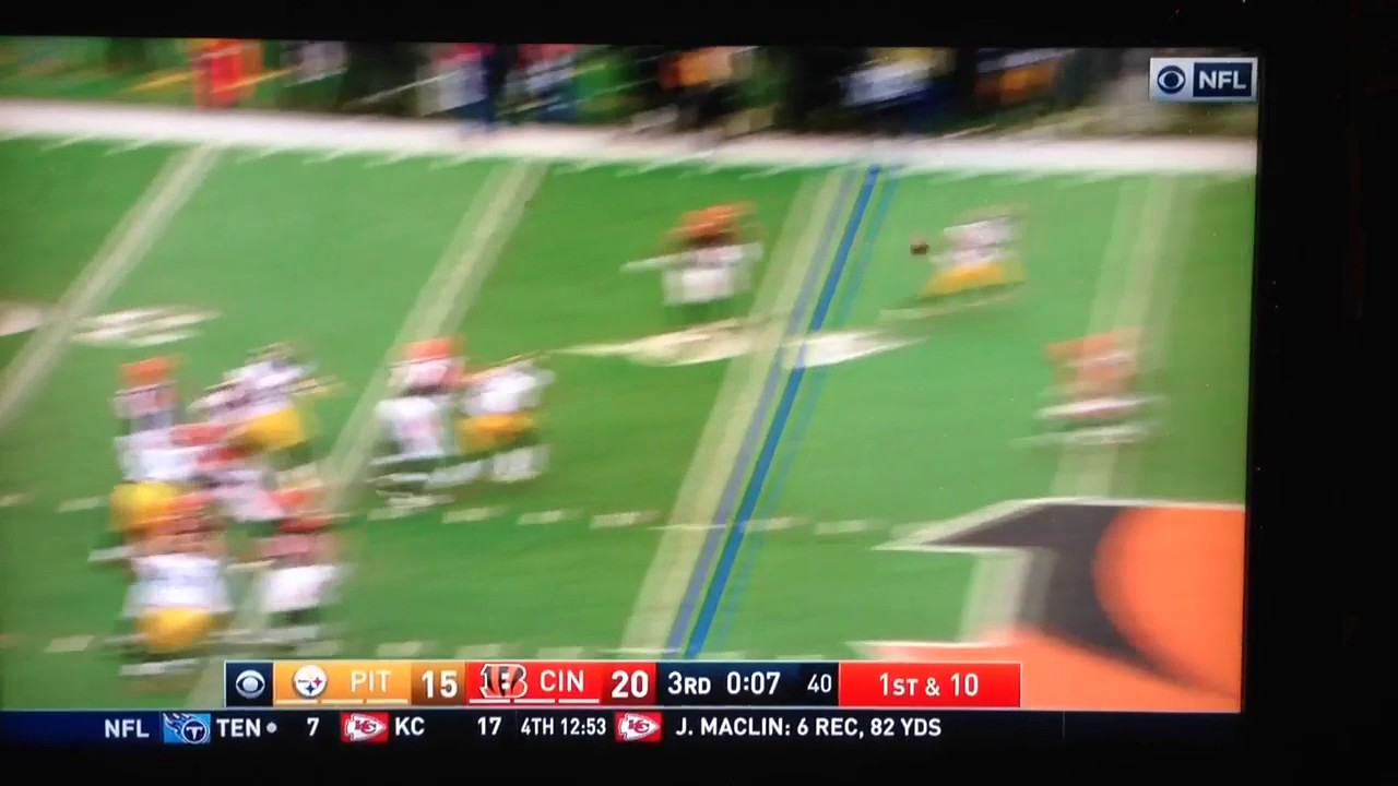 Andrew Whitworth nails Lawrence Timmons after Int - YouTube