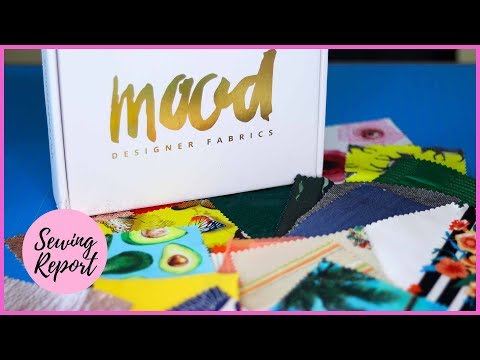 Mood Designer Fabrics Swatch Club 🎀 First Impressions + Honest Review | SEWING REPORT