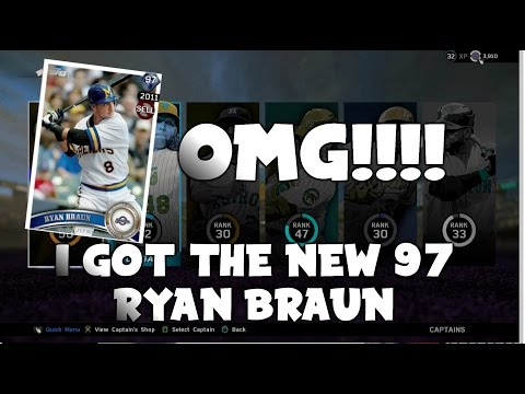 I GOT THE NEW 97 OVR RYAN BRAUN OMG!!!