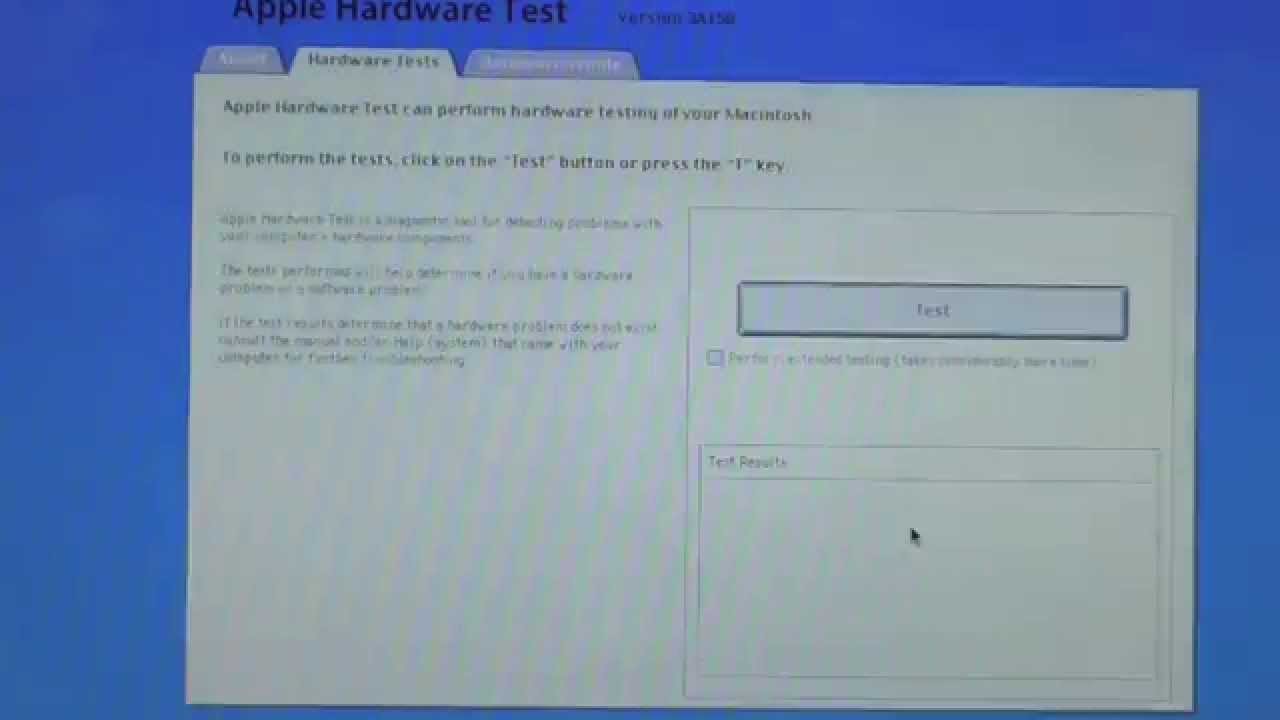 mac mini apple hardware test