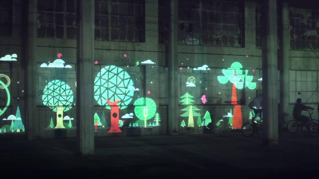 Bikes Make Life Better -- Projection Art - YouTube