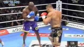 Le Banner VS Goodridge. K1 free fight (the best Le Banner's KO)