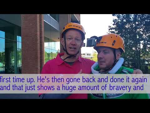 Martin Reeves and JD abseil