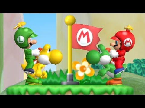 New Super Mario Bros. Wii - All Secret Exits (2 Players)