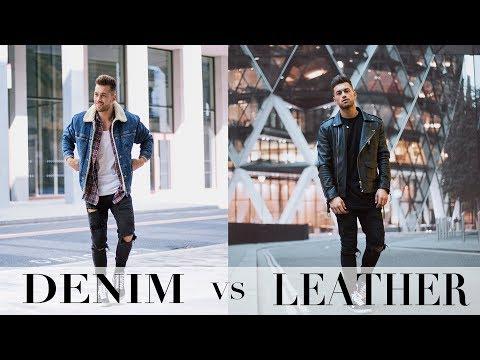 DENIM vs LEATHER | YOU DECIDE | FASHION EDIT | Ali Gordon & Joey London