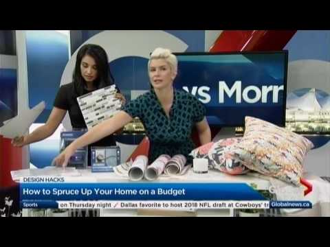 Amanda Forrest Shows the Dimplex Charlotte Media Console on Global Morning | April 5, 2017