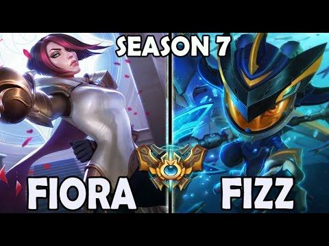 Afreeca Marin plays FIORA TOP vs A Korean FIZZ Ranked Season 7